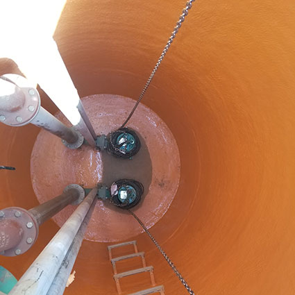 Wastewater manhole rehab after